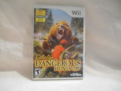 Nintendo wii game Dangerous Hunts 2009 Cabelas w/manual and case works