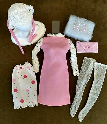 Vintage Barbie Francie Dance Party With Hard To Find Mint Nylons! Plus Extras