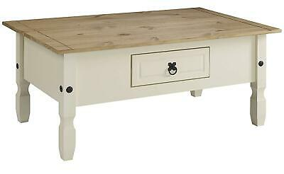 Tv Stand Cabinet Furniture Corona Painted Coffee Table - Cream/Brown