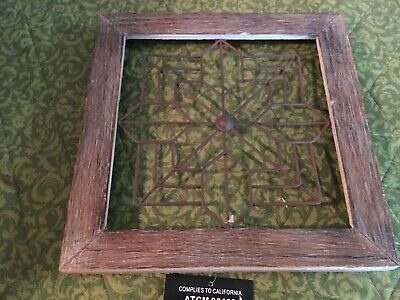 Hobby Lobby Wall Decor Cross Wooden w/ Metal wire cross