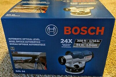 NEW Bosch Automatic Optical Level Kit GOL24 24x Zoom 300 Feet