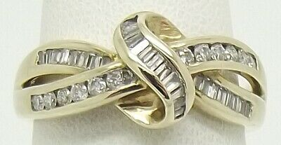 Solid 9Ct Yellow Gold 40 X Natural Diamond Dress Ring - Size N