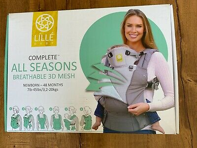 Lillebaby Complete 6 Positions All Seasons Breathable 3D Mesh Baby Carrier NEW