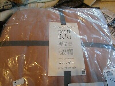 West Elm Washed TENCEL Toddler Quilt - Rosette New with tag