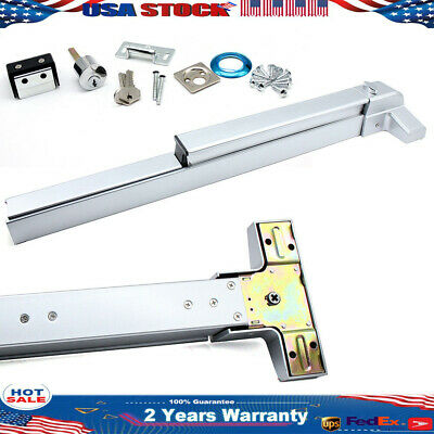 """Door Push Bar Panic Heavy Duty Commercial Rim Exit Device For 30""""-36"""" single HOT"""