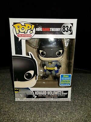 Funko Pop! #834 Howard Wolowitz as Batman Big Bang Theory Limited Exclusive Mint