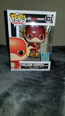 Funko Pop! #833 Sheldon Cooper as The Flash Big Bang Theory SDCC Exclusive **