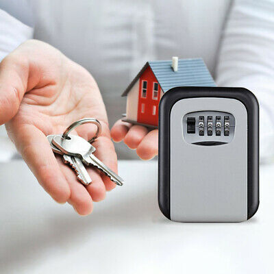 Key Safe Outdoor High Security 4 Digit Box Secure Lock Combination Wall Mounted