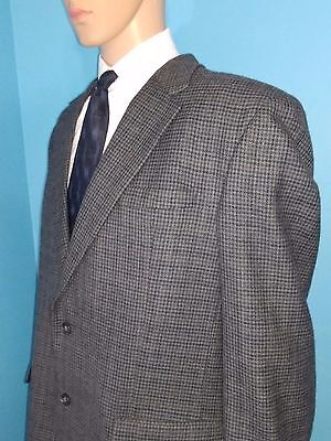 Jos A Bank 2 Button Houndstooth Blazer Sports Coat Suit Jacket Size 46L