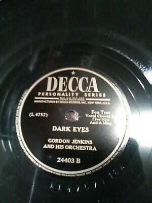 "Vintage~Gordon Jenkins and his Orchestra ""Maybe You'll be There & Dark Eyes"""