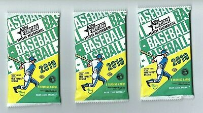 2019 TOPPS HERITAGE HIGH NUMBER BASEBALL 3 Pack Hobby 9 Cards per Pack
