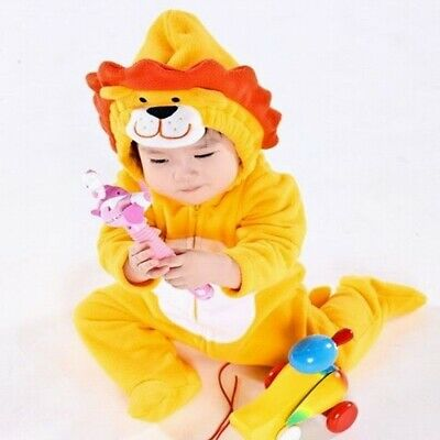 Lion Newborn Baby Winter Hoodie Clothes Outwear Rompers Boy Jumpsuit