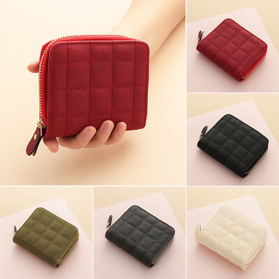 Women Leather Bifold Wallet Ladies Zipper Clutch Card Holder Purse Handbag New