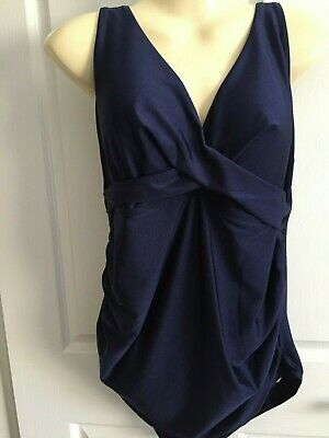 10 12  20 Dark Blue Support To  Grow  0Ne Piece Maternity Swimmers Nwt $32