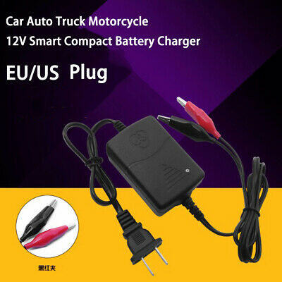 Motorcycle Accessories Battery Charger Car Auto Truck Smart Compact  Charging