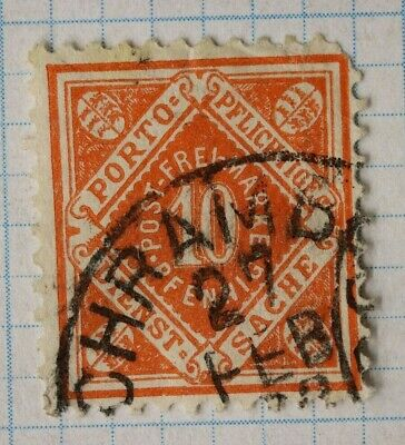 Germany Wurttemberg sc#o18 postally used official state postage stamps