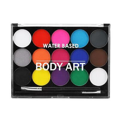 Face Painting Kit Face & Body Paint 15 Color Faces Palette for Children Xmas