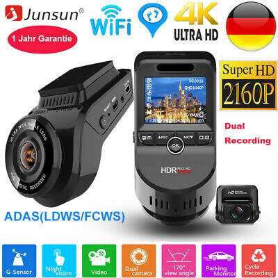 Junsun HD 4K 2160P Autokamera Dashcam WIFI GPS 170° Weitwinkel Video Recorder