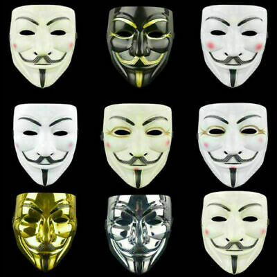 Anonymous Hacker Vendetta Halloween Face Mask Fancy Dress Costume Scary Party UK