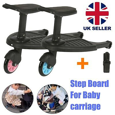 Kids Buggy Board Stroller Step Board Stand Connector Toddler Wheeled Pushchair