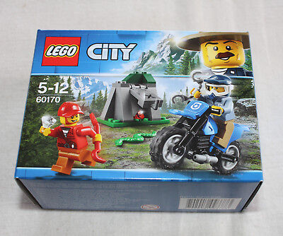LEGO 60170 Mountain Police Off-Road Chase Set City Minifigure Motorcycle NEW Box
