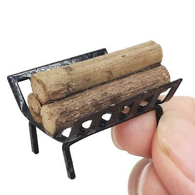 1/12 Miniature Furniture Rack W/ Firewood Fireplace Living Room For Dollhouse