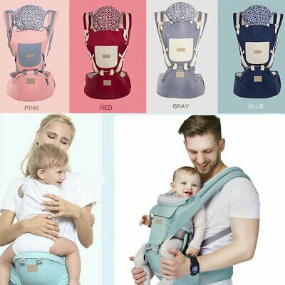 9 in 1 Ergonomic Baby Carrier With Hip Seat Stool Adjustable Wrap Sling Backpack