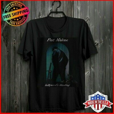 Post Malone T Shirt Hollywood's Bleeding Album Shirt Black All Size For Fans