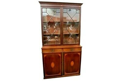 Antique Sheraton Inlaid Mahogany Bookcase...for A Nurses Fund