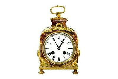 Superb Antique French Empire Marble & Ormolu Pendule D, Officier Carriage Clock