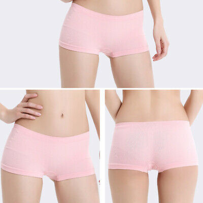 2019 Women High Waist Boxer Lingerie Shorts Pants Underwear Briefs One Size