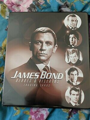 James Bond Heroes And Villains Official Rittenhouse trading card Binder