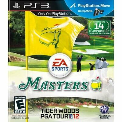 Tiger Woods PGA Tour 12: The Masters For PlayStation 3 PS3 Golf Very Good 0E