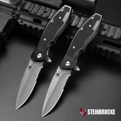 "8"" Spring Assisted Multifunction Tactical Hunting Pocket Army Folding Knife Tool"