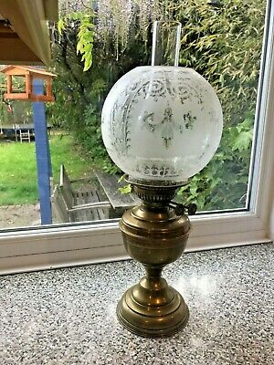 Antique Vintage Victorian Oil Table Lamp Wright Butler No 3 Urn Shape Cast