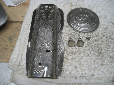 Singer 66 Face Plate Sewing Scrolled Ornate Front Rear Service Cover Redeye