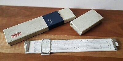 Vintage Sun Hemmi no 255D Bamboo Slide Rule Boxed Made In Japan Calculator