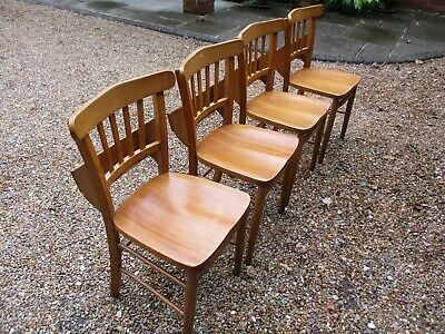 4 CHURCH / CHAPEL CHAIRS WITH BOOK HOLDERS. Delivery possible. DINING CHAIRS.