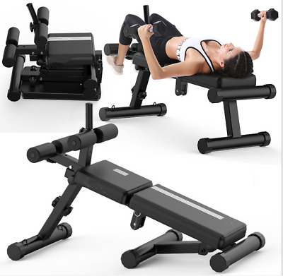 Adjustable Ab Sit Up Bench Weight Lift Flat Incline Bench Exercise Fitness 200KG