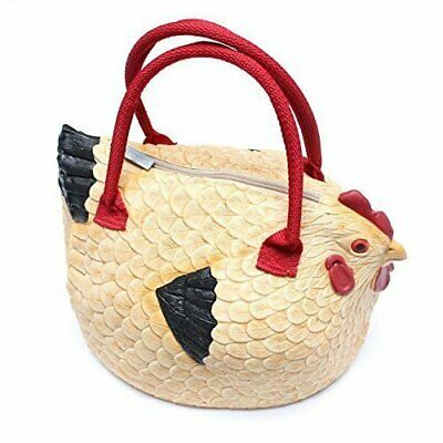 "Rubber Chicken Purse The ""Hen Bag"" Handbag Cute Fun Gift Zipper Animal Design"