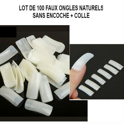lot de 500 capsules faux ongles naturel sans encoche professionnel gel MAN802