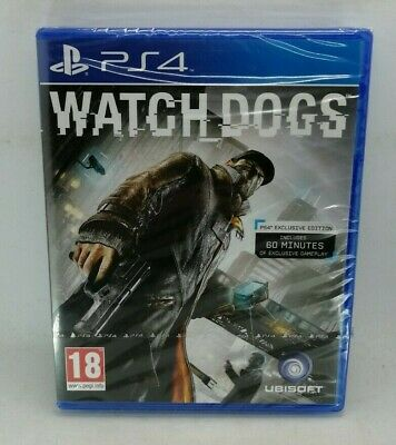 Watch Dogs Video Game for Sony PlayStation 4 PS4 NEW SEALED