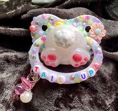 Adult Pacifier Littleforbig Sized Paci Baby Little Space ABDL DDLG Bear 3D Bling