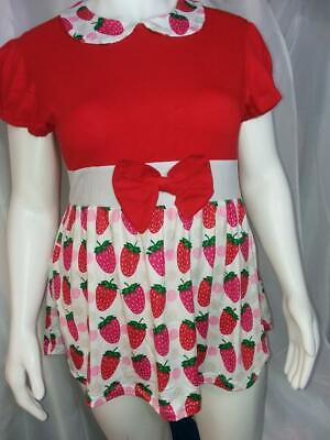 Strawberry Patch WITH PETER PAN STYLE COLLAR Romper Dress anonymous list