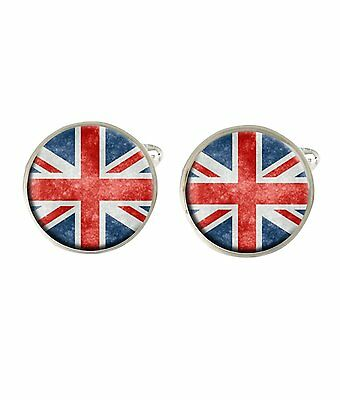 Union Jack Great Britain Flag Mens Cufflinks Ideal Birthday Fathers Day Gift C79