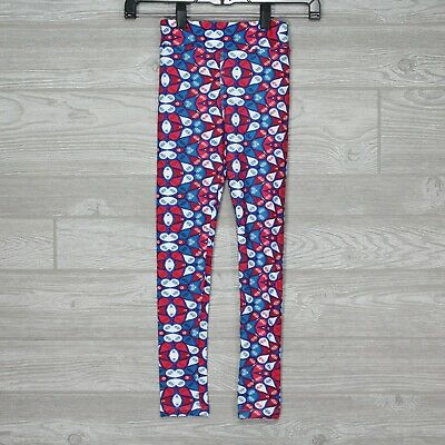 New LuLaRoe Kids Leggings Red White Blue - Kids Child NWOT LLR - Size L/XL