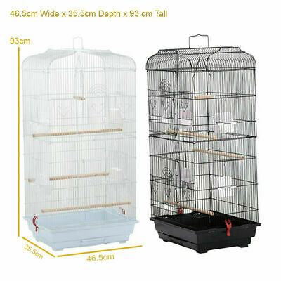 Bird Cage for Budgie Parakeet Canary Cockatiel Finch or Lovebird Large Metal