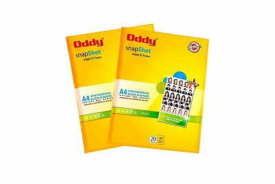 Oddy A4 Size Snapshot Coated Glossy Inkjet ID Photopaper 180 GSM 20 Sheets