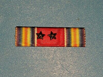 Original WWII WW2 US Victory Medal Ribbon & 2 Star 3/8 Inch Army Air Force Pin