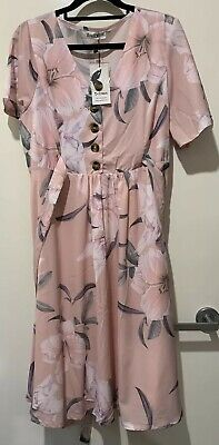 St Frock Bump And Beyond Maternity Nursing Clover Dress In Blush Floral 12